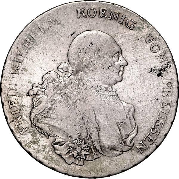 Reichstaler Preußen Friedrich Wilhelm II.