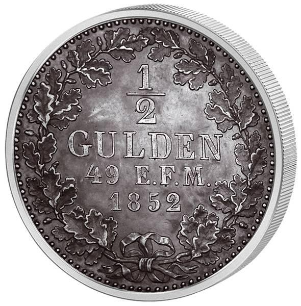 1/2 Gulden  Hohenzollern-Sigmaringen Friedrich Wilhelm IV. 1852 ss-vz