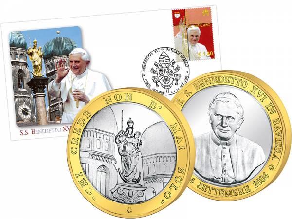 Gedenkset Papstbesuch in Bayern 2006   prägefrisch