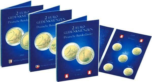 Sammelkarte für 2 Euro-Gedenkmünzen Deutschland