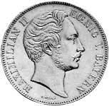 Vereinsdoppeltaler Silber Maximilian II. König v. Bayern 1859-60