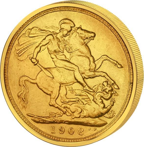 1 Sovereign Großbritannien Edward VII. 1902-1910 sehr schön