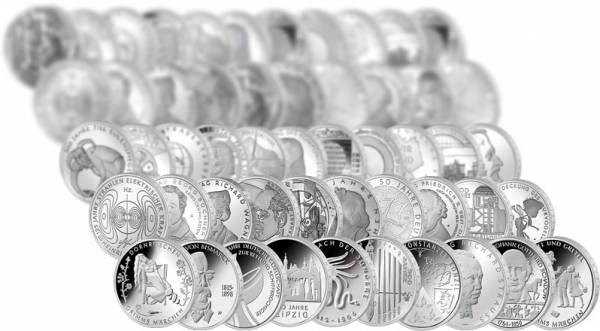 76 x 10 Euro BRD Komplett-Kollektion 2002-2015 Polierte Platte