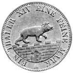 Taler Ausbeutetaler Alexander Carl 1861-1862  vz-st