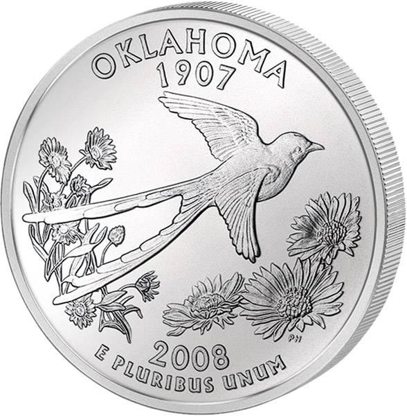 Quarter Dollar USA Oklahoma 2008