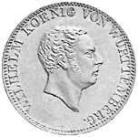 Doppelgulden Silber Wilhelm I. König v. Württemberg 1824 Sehr schön