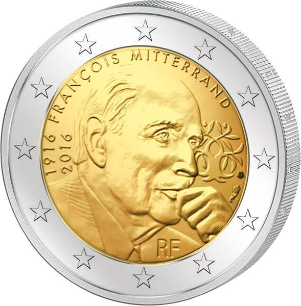 2 Euro Frankreich 100. Geburtstag und 20. Todestag François Mitterrand