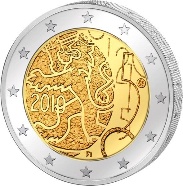 2 Euro Finnland 150 Jahre Finnische Währung