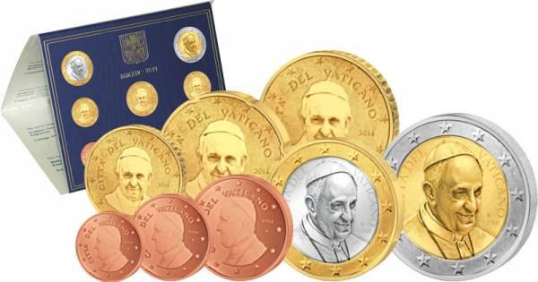 Euro-Kursmünzensatz Vatikan 2014 Stempelglanz