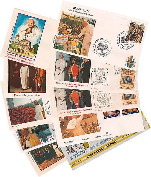 10 verschiedene Reisebriefe Papst Johannes Paul II.