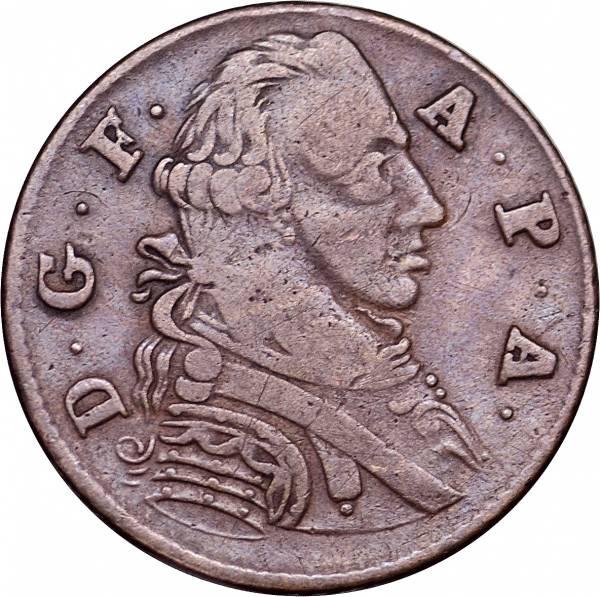 1 Pfennig Fürstentum Anhalt-Zerbst Friedrich August 1766 Sehr schön