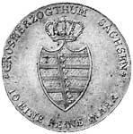 Taler Konventionstaler Großherzogtum Sachsen 1815 Vorzüglich