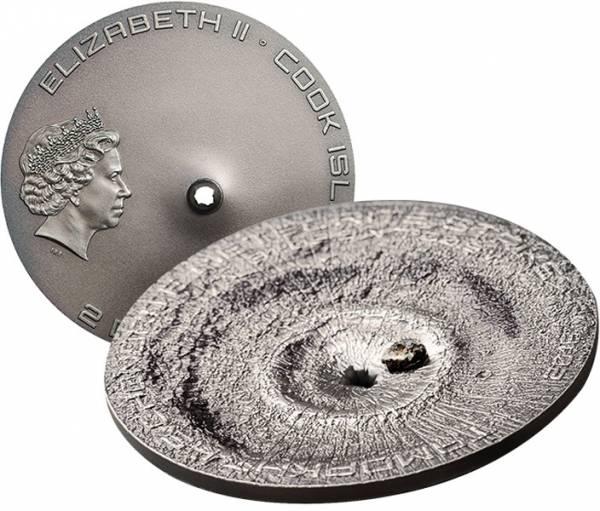 2 Dollars Cook-Inseln Tamdakht-Meteoriten-Einschlag
