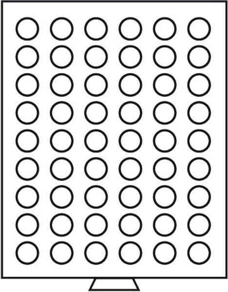 Münzbox mit 54 Fächern für Münzen mit Ø 27 mm rauchfarben