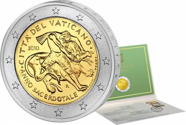 2-Euro-Gedenkmünze Vatikan als Ersttags-Edition 2010 Stempelglanz