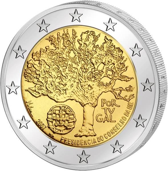2 Euro Portugal EU-Ratspräsidentschaft 2007 Stempelglanz