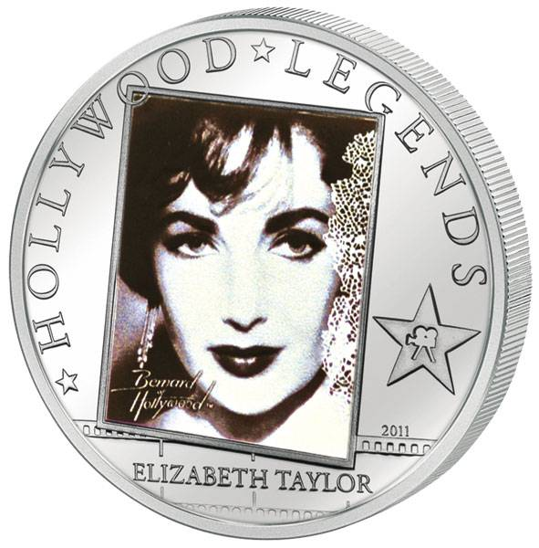 5 Dollars Cook-Inseln Liz Taylor  2011 Polierte Platte
