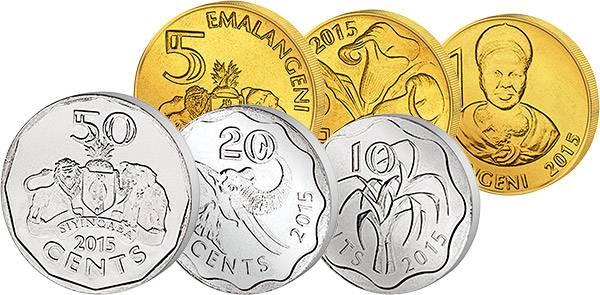 10 Cent - 5 Emalangeni Swasiland 2015