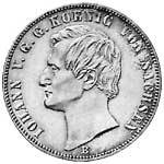 Taler Vereinstaler Johann 1861-1866 Sehr schön