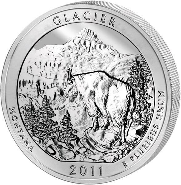 Quarter Dollar USA Montana Glacier Nationalpark 2011