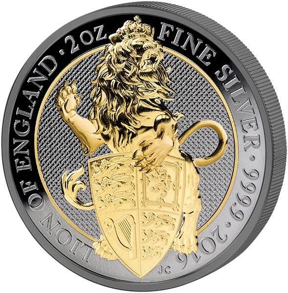 2 Unzen Großbritannien Der Englische Löwe Golden Enigma 2016