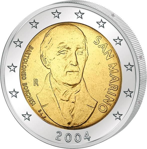 2 Euro San Marino Bartolomeo Borghesi 2004 prägefrisch