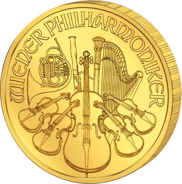 1/25 Unze Gold Österreich Philharmoniker 2017