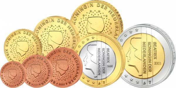 Euro-Kursmünzensatz Niederlande 1999-2013 prägefrisch