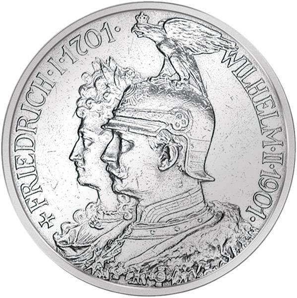 2 Mark Preußen 200 Jahre Königreich Preußen 1901 Vorzüglich