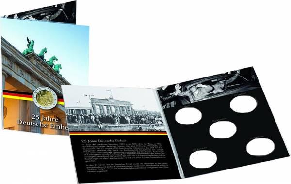 Sammelkarte für 5 x 2-Euro-Gedenkmünzen 25 Jahre Deutsche Einheit