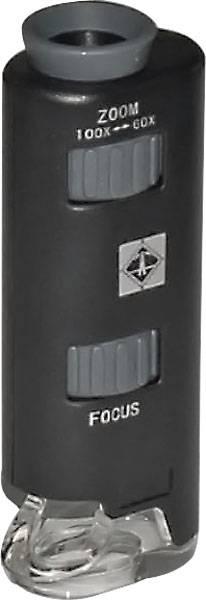 Mikroskop Zoom 60--100-fache Vergrößerung inkl. Batterien 88x30x20 mm