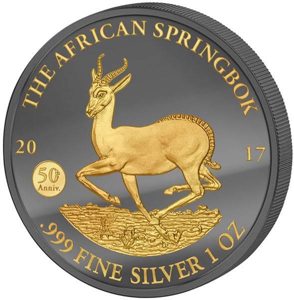 1 Unze Gabun Springbock Golden Enigma 2017