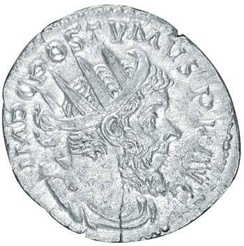 Antoninian Kaiser Postumus 259-268 n.Chr. Sehr schön
