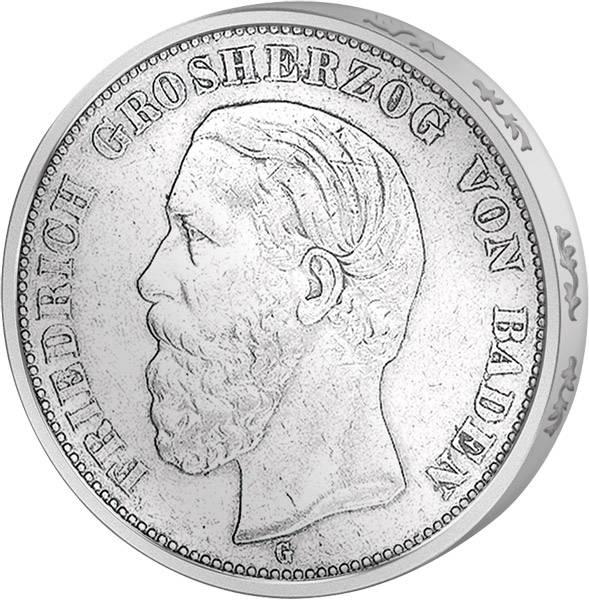 5 Mark Baden Friedrich I. 1875-1876 s-ss