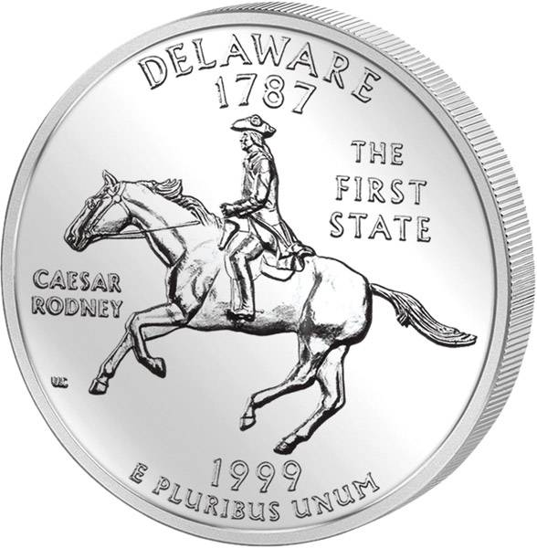 Quarter Dollar USA Delaware 1999