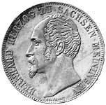 Taler Doppeltaler Bernhard Erich Freund 1853-1854 Vorzüglich