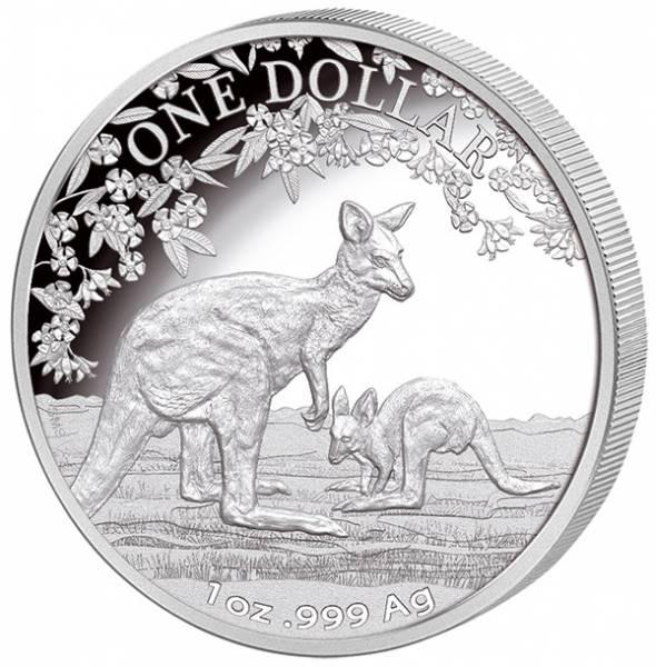 1 Unze Silber Australien Känguru 2017