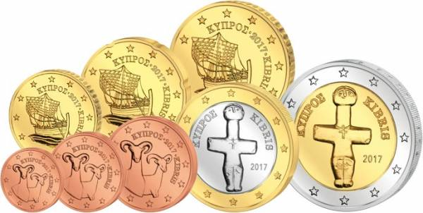 Euro-Kursmünzensatz Zypern 2017