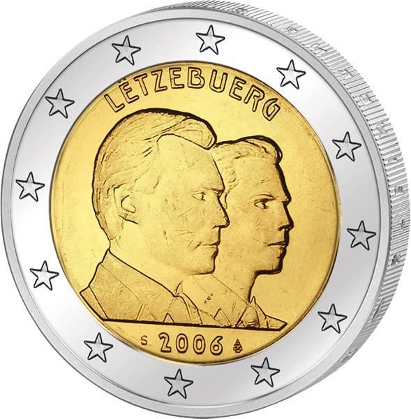 2 Euro Luxemburg 25. Geburtstag Erbgroßherzog 2006 Stempelglanz