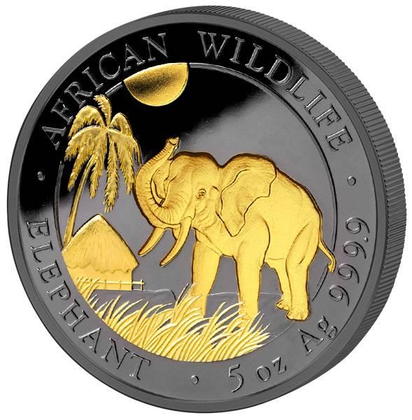 5 Unzen Somalia Elefant Golden Enigma Premium Edition 2017