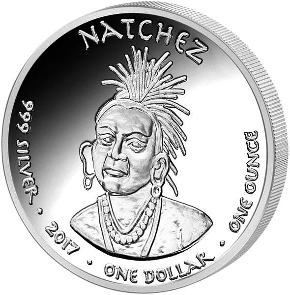 1 Dollars USA Native State Dollar Natchez Schwarzbär Louisiana
