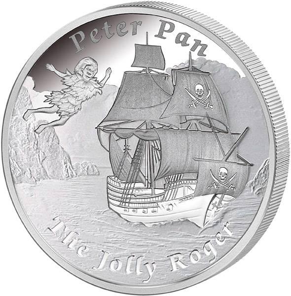 1 Dollar Tuvalu Schiff-Jolly Roger