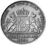 Taler Doppeltaler Maximilian II. 1849-1856  Vorzüglich