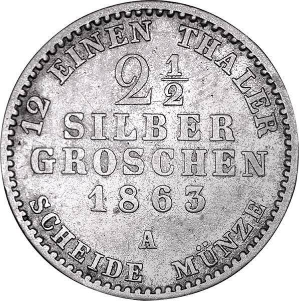 2 1/2 Groschen Brandenburg-Preußen König Wilhelm I.