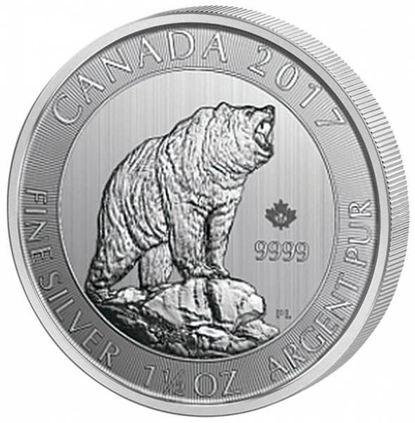 1,5 Unzen Silber Kanada Grizzly 2017
