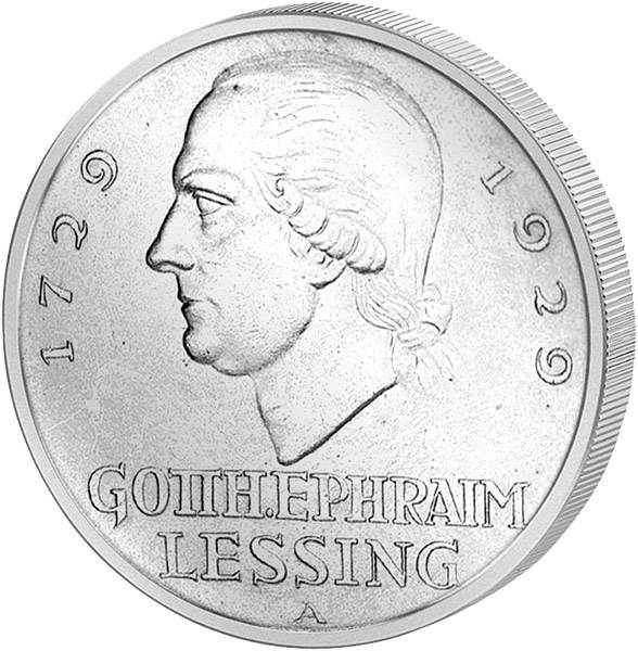 3 Reichsmark Gotthold Ephraim Lessing