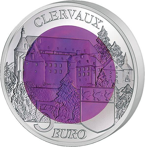5 Euro Luxemburg Schloss von Clerf