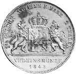 Taler Doppeltaler Ludwig I 1846 1842-1848  ss-vz