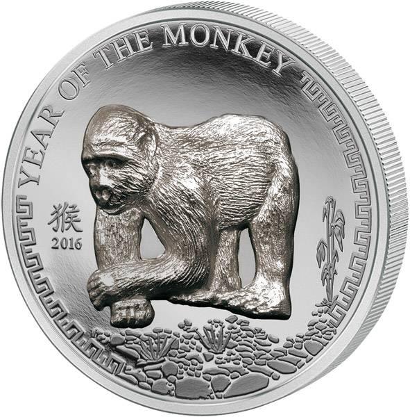 500 Togrog Mongolei Jahr des Affen 2016   Polierte Platte (PP)