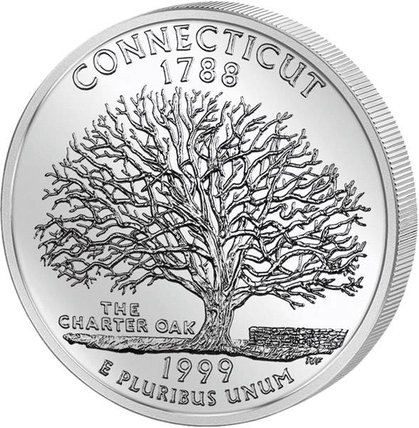 Quarter Dollar USA Connecticut 1999